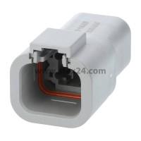 AS-4SM 120 Kabelstecker ATM-Serie Stift, 4-polig, Crimpanschluss