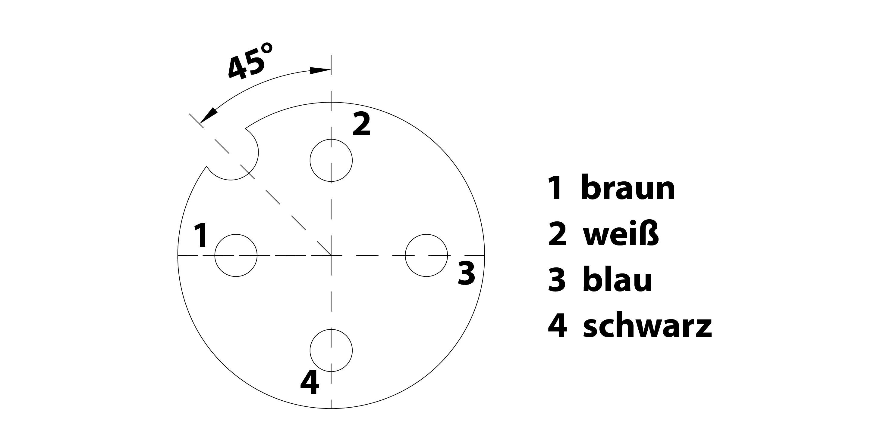 Polbild: die M12 Sensorleitung 4 polig