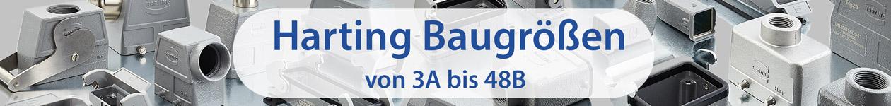 Baugrößen von Harting - 3A bis 48B