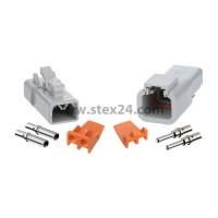 AS-2SM/F 113 SET-Steckverbindung ATP-Serie 1xStift/1xBuchse, 2-polig, Crimpanschluss