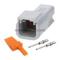 AS-2SM 108 SET-Kabelstecker ATM-Serie Stift, 2-polig, Crimpanschluss