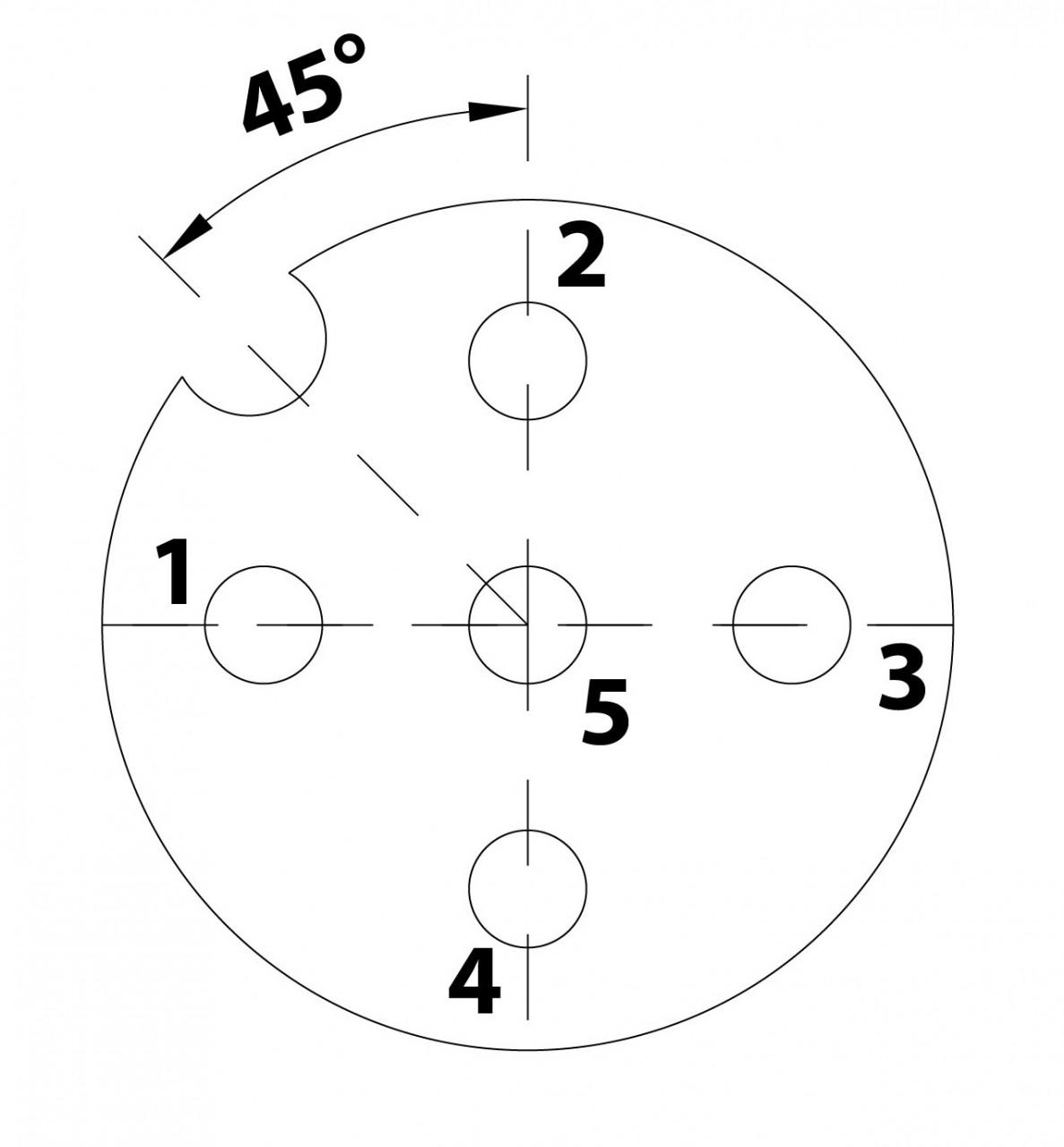 Polbild eines M12 Gerätesteckers