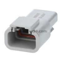 AS-3SM 116 Kabelstecker ATM-Serie Stift, 3-polig, Crimpanschluss