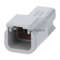 AS-2SM 115 Kabelstecker ATM-Serie Stift, 2-polig, Crimpanschluss