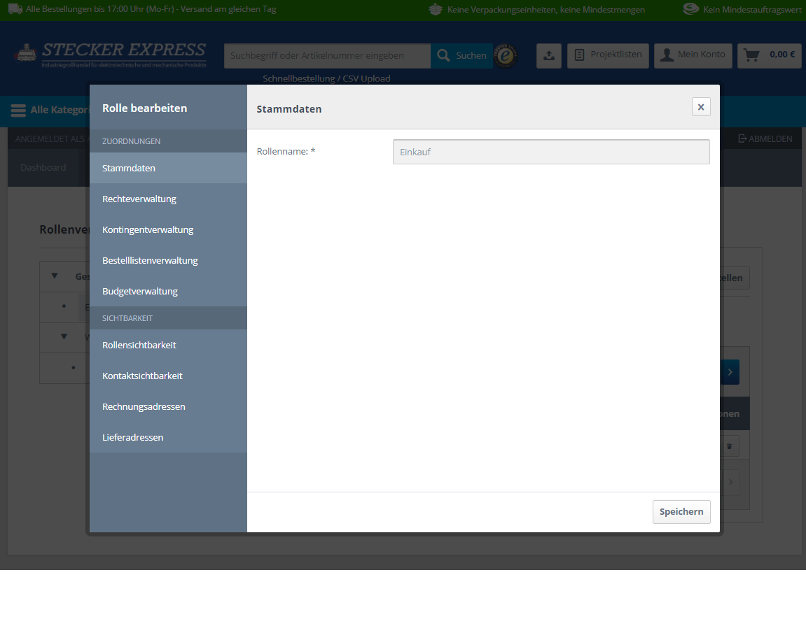 Kundenkonto Firma Stammdaten