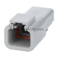 AS-2SM 119 Kabelstecker ATM-Serie Stift, 2-polig, Crimpanschluss
