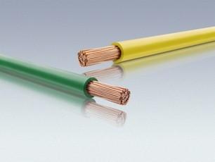 H07Z-K Einzeladern in gelb und grün